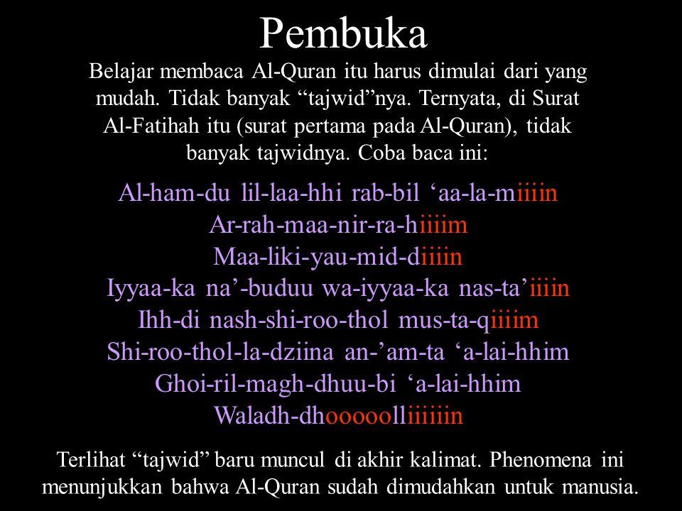 Pembuka Al-ham-du lil-laa-hhi rab-bil 'aa-la-miiiin
