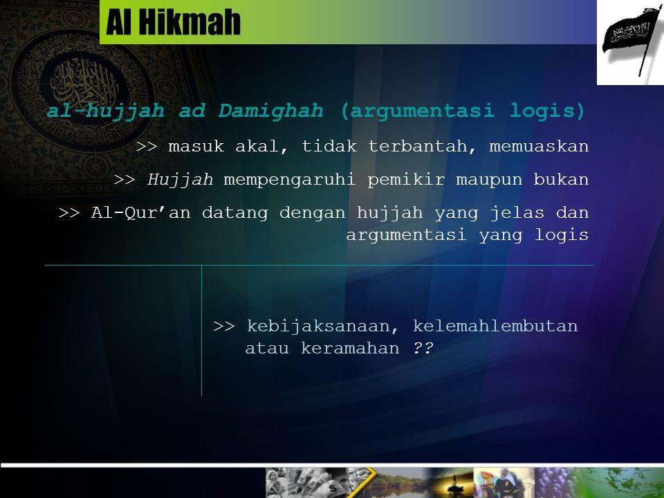 Al Hikmah al-hujjah ad Damighah (argumentasi logis)