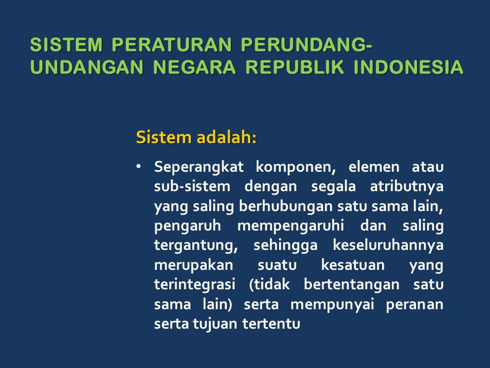 SISTEM PERATURAN PERUNDANG-UNDANGAN NEGARA REPUBLIK INDONESIA