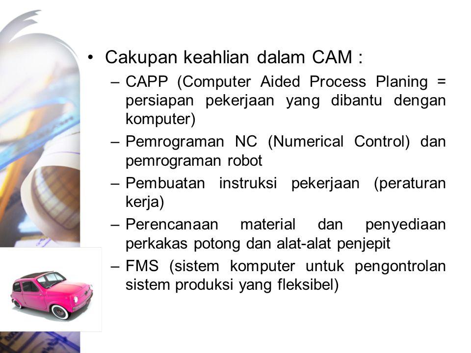 Cakupan keahlian dalam CAM :