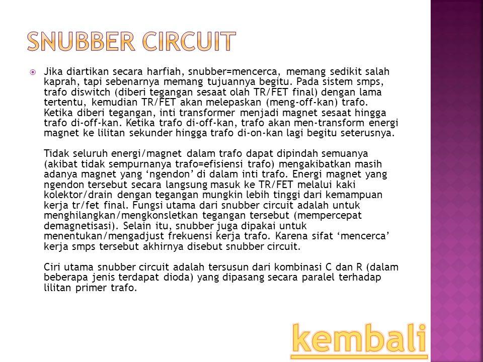 kembali Snubber Circuit