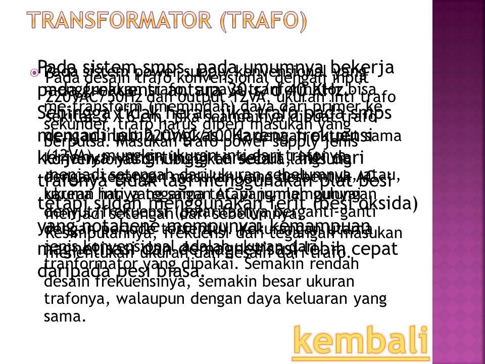 Transformator (trafo)
