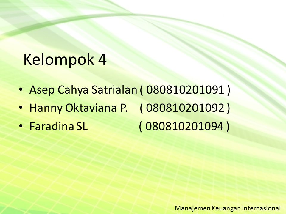 Kelompok 4 Asep Cahya Satrialan ( 080810201091 )