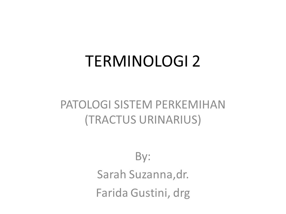 PATOLOGI SISTEM PERKEMIHAN (TRACTUS URINARIUS)