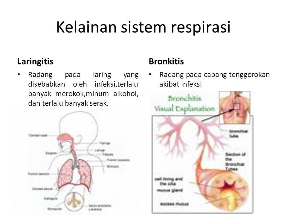 Kelainan sistem respirasi