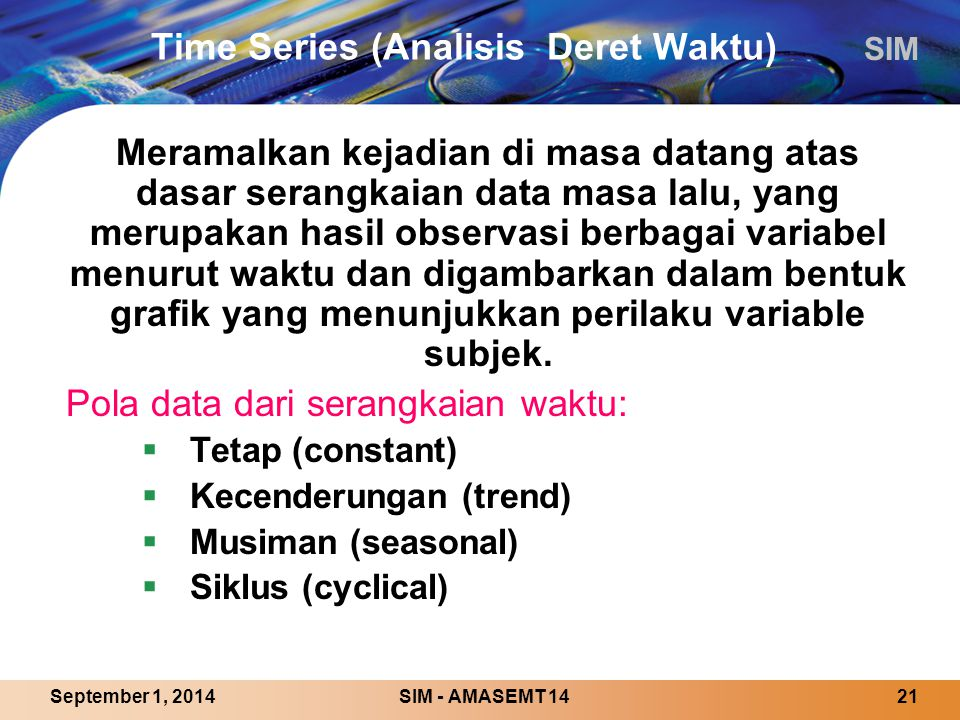 Time Series (Analisis Deret Waktu)
