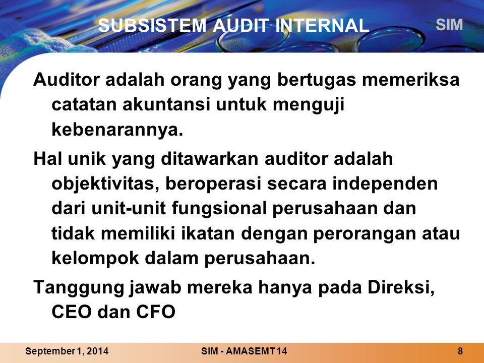 SUBSISTEM AUDIT INTERNAL