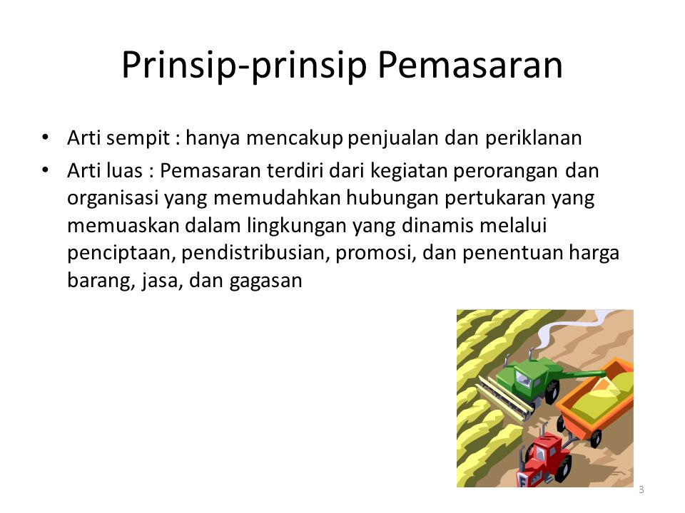 Prinsip-prinsip Pemasaran