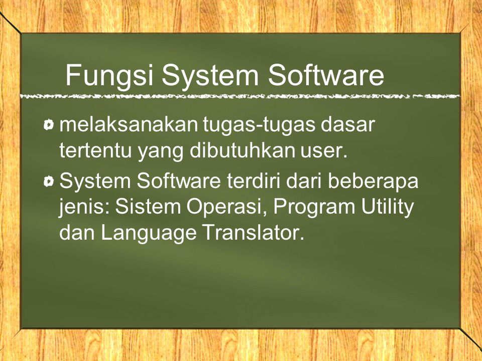 Fungsi System Software