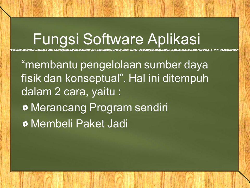 Fungsi Software Aplikasi