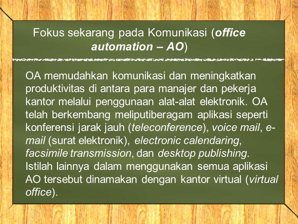 Fokus sekarang pada Komunikasi (office automation – AO)