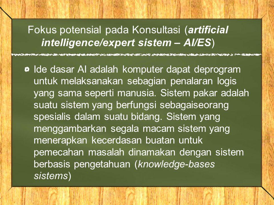 Fokus potensial pada Konsultasi (artificial intelligence/expert sistem – AI/ES)