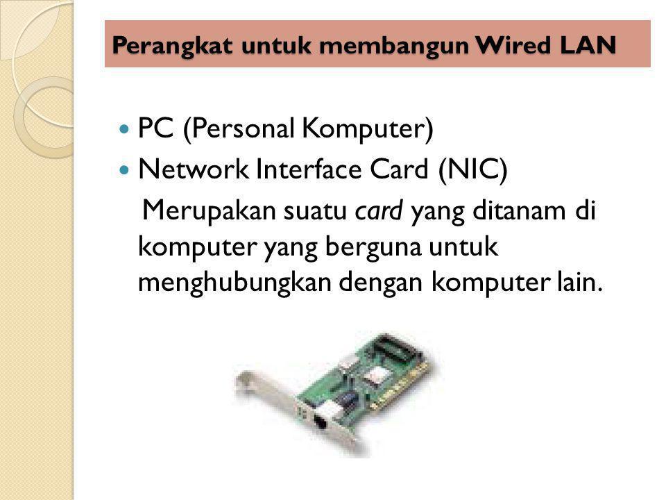 Perangkat untuk membangun Wired LAN