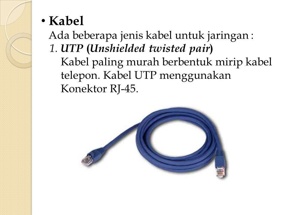 Kabel UTP (Unshielded twisted pair)