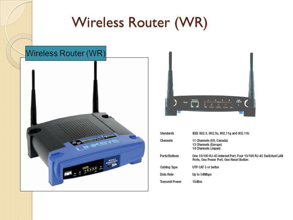 Wireless Router (WR) Wireless Router (WR)