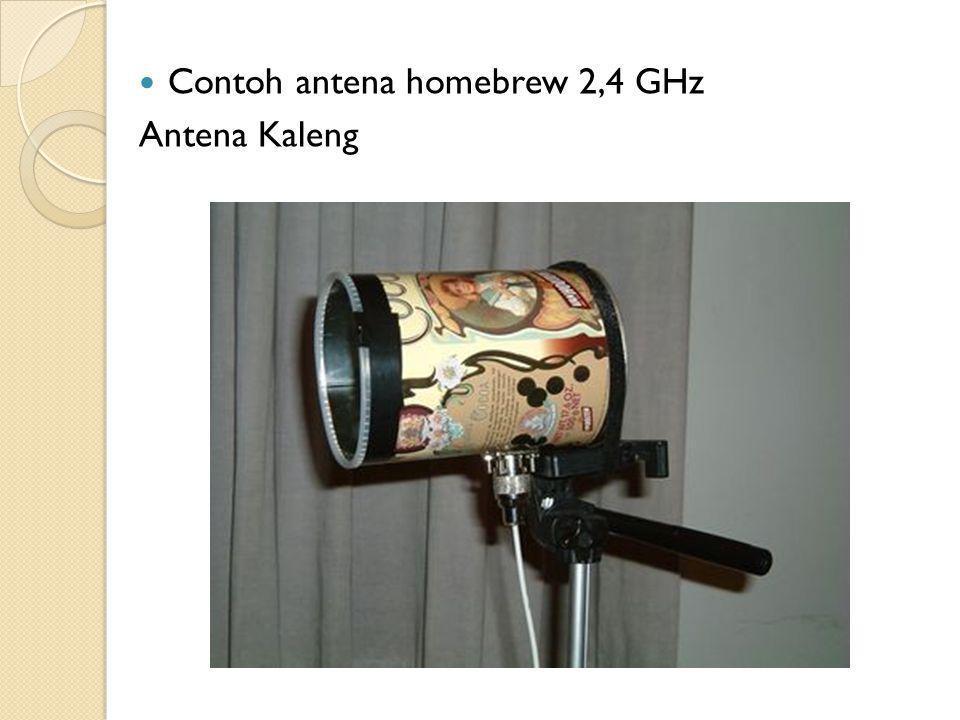 Contoh antena homebrew 2,4 GHz