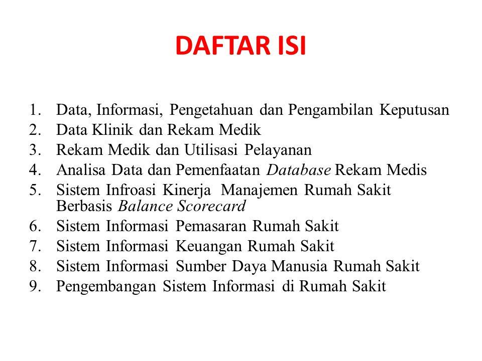 DAFTAR ISI Data, Informasi, Pengetahuan dan Pengambilan Keputusan
