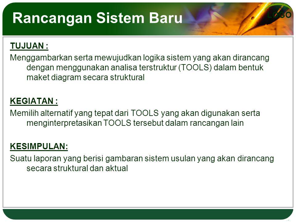 Rancangan Sistem Baru TUJUAN :