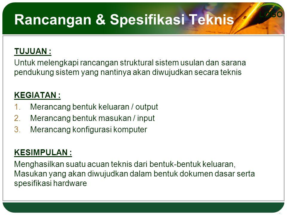 Rancangan & Spesifikasi Teknis