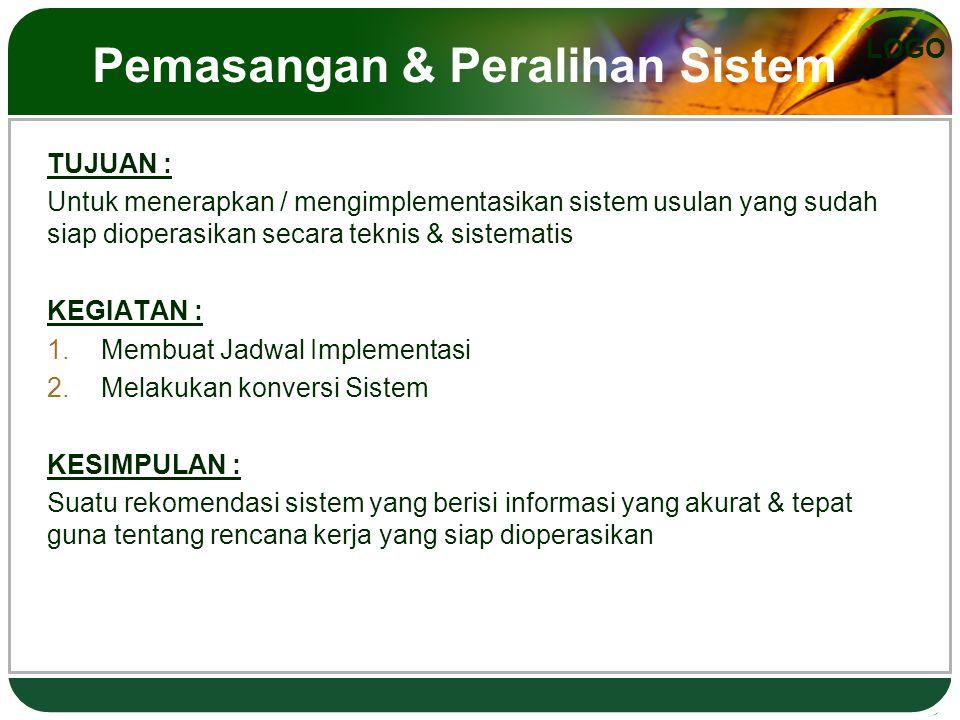 Pemasangan & Peralihan Sistem