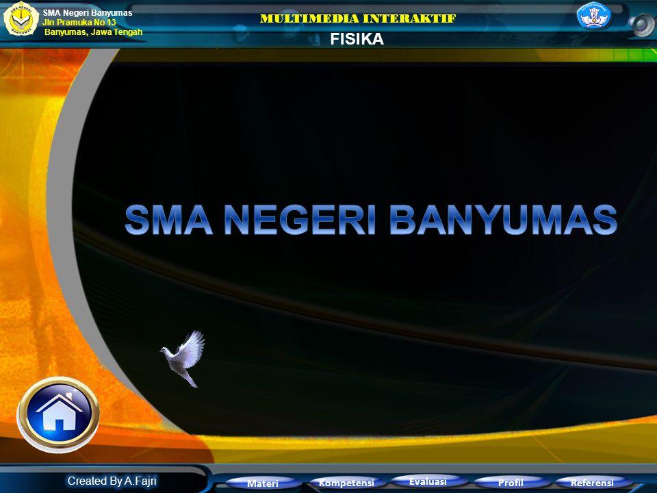 SMA NEGERI BANYUMAS FISIKA MULTIMEDIA INTERAKTIF Created By A.Fajri