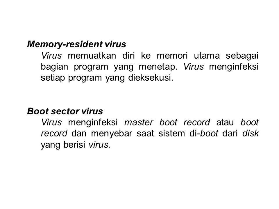 Memory-resident virus