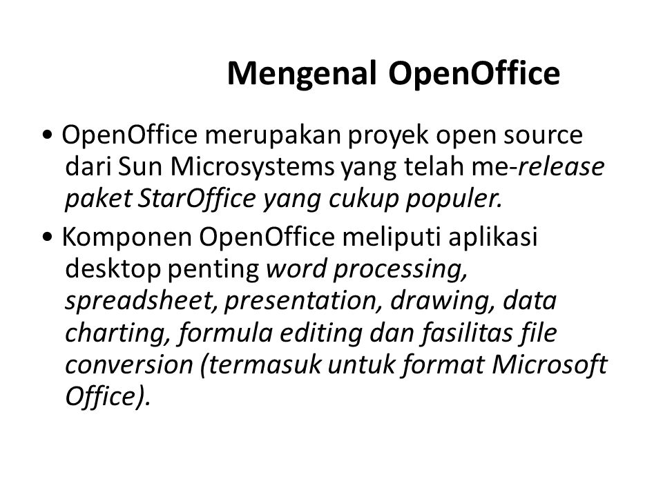 Mengenal OpenOffice