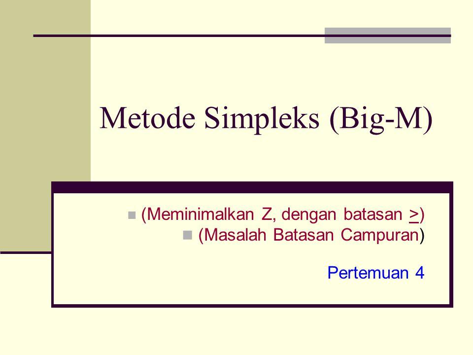 Metode Simpleks (Big-M)