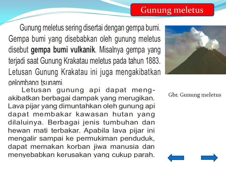 Gunung meletus Gbr. Gunung meletus
