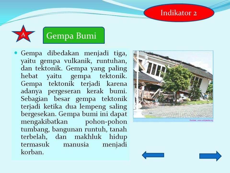 Indikator 2 A. Gempa Bumi.