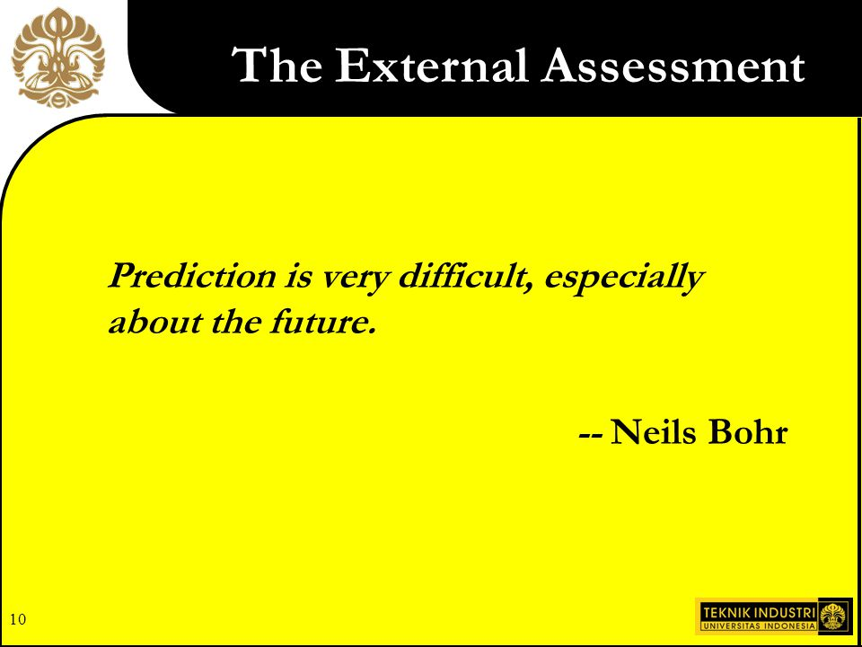 The External Assessment