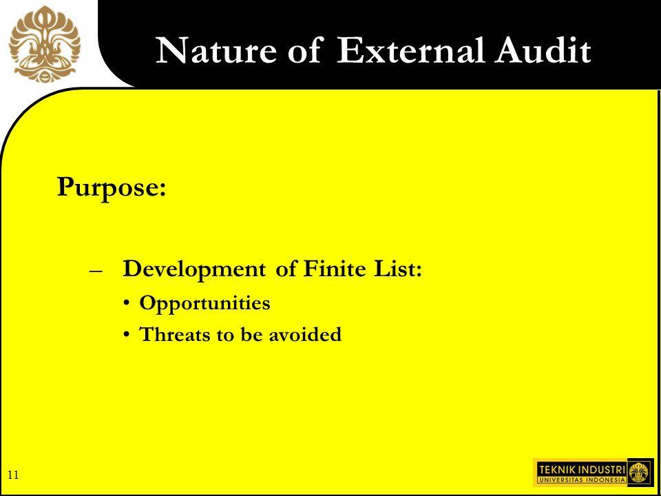 Nature of External Audit