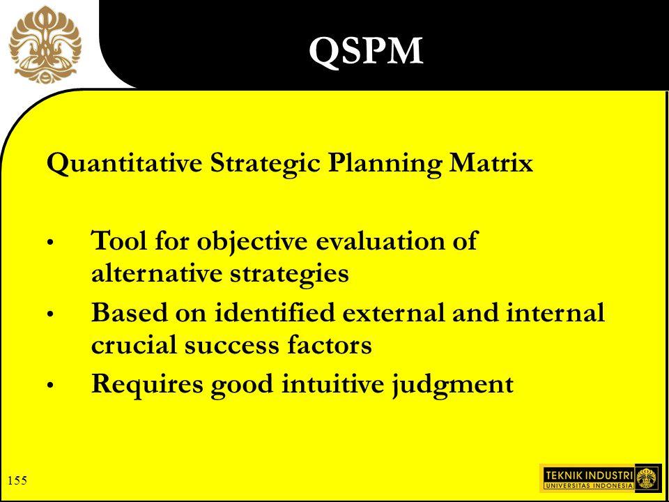 quantitative strategic planning matrix or a