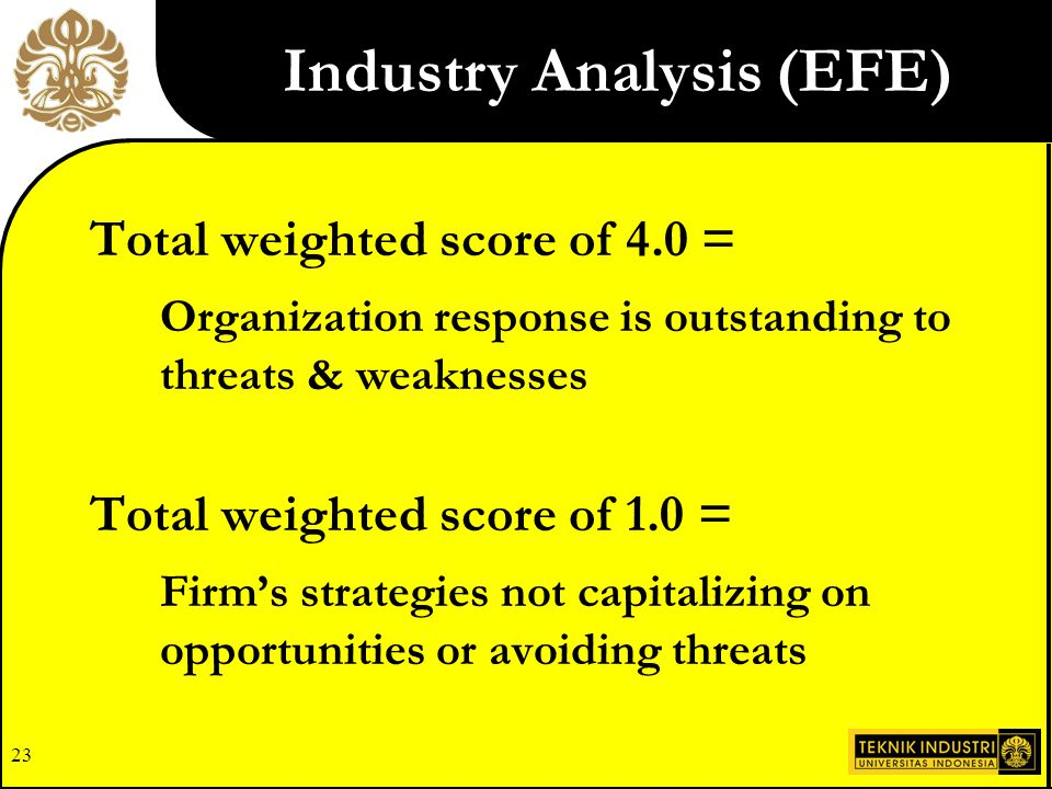 Industry Analysis (EFE)
