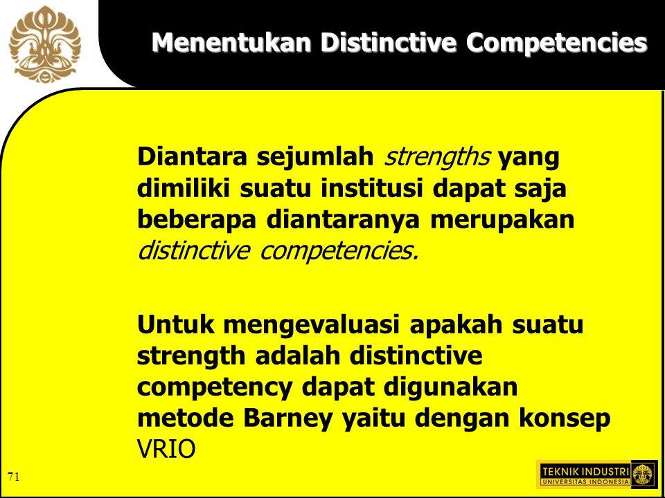 Menentukan Distinctive Competencies
