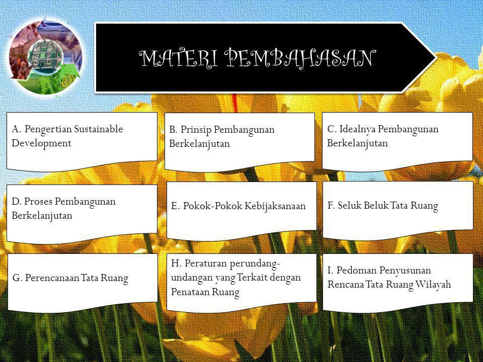 MATERI PEMBAHASAN A. Pengertian Sustainable Development