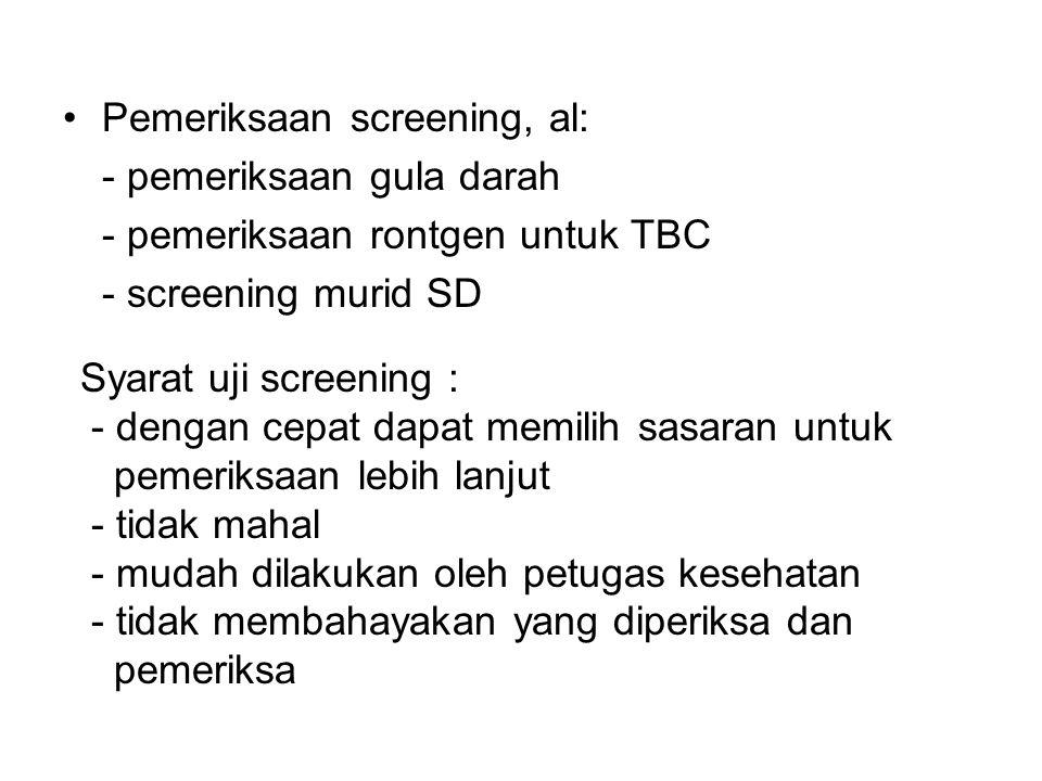 Pemeriksaan screening, al: