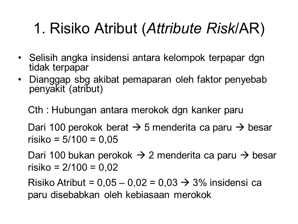 1. Risiko Atribut (Attribute Risk/AR)