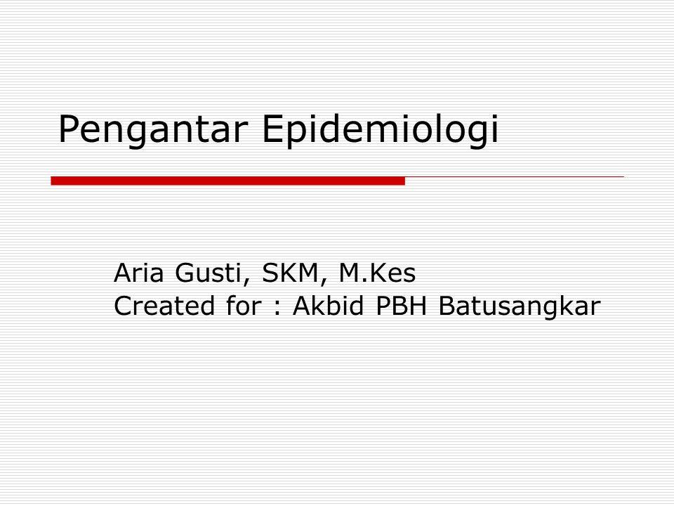 Aria Gusti, SKM, M.Kes Created for : Akbid PBH Batusangkar