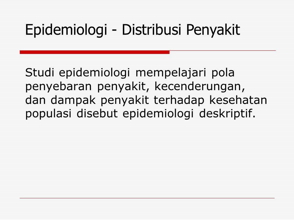 Epidemiologi - Distribusi Penyakit