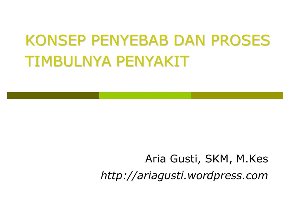 Aria Gusti, SKM, M.Kes http://ariagusti.wordpress.com
