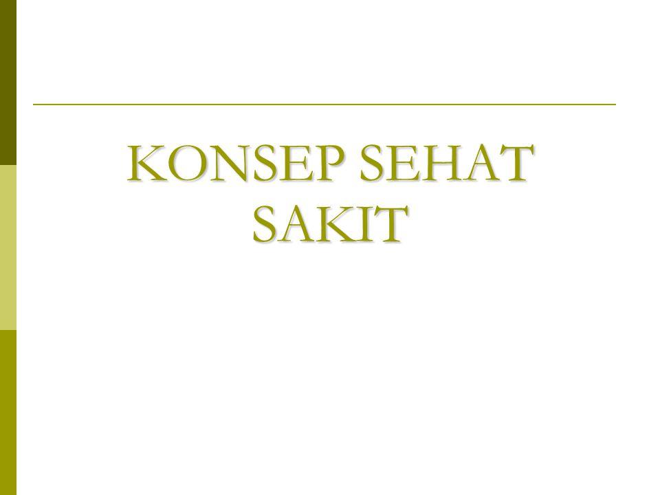 KONSEP SEHAT SAKIT