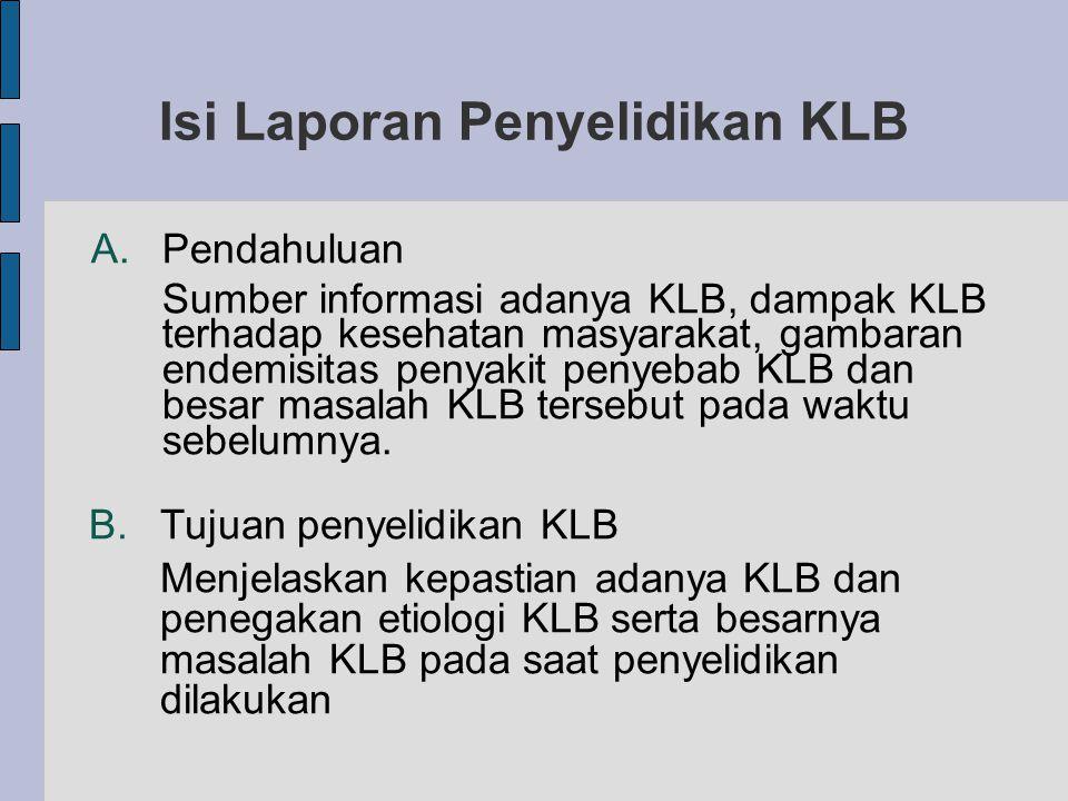 Isi Laporan Penyelidikan KLB