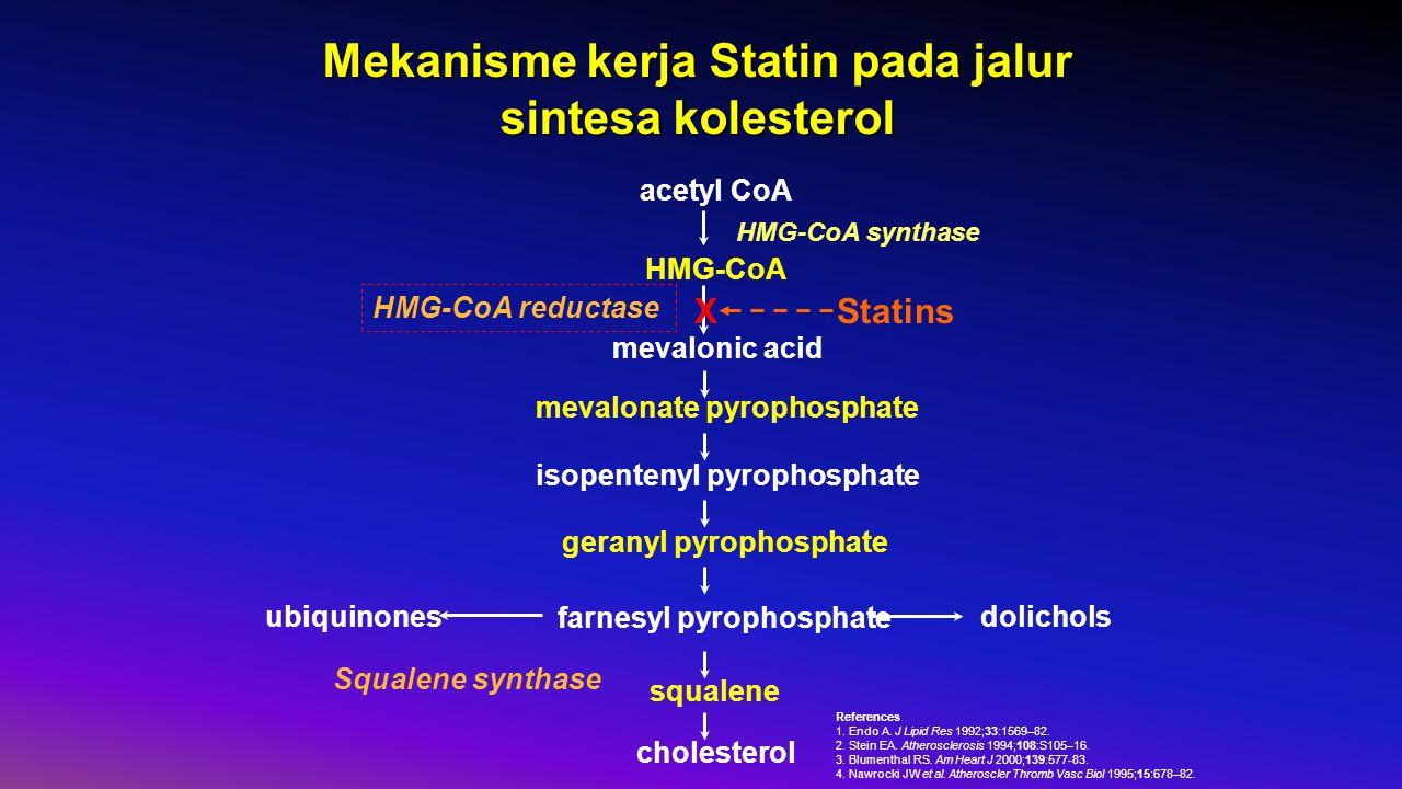Mekanisme kerja Statin pada jalur sintesa kolesterol