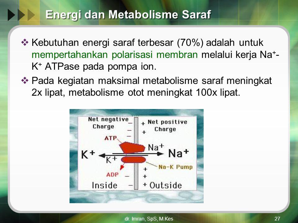 Energi dan Metabolisme Saraf
