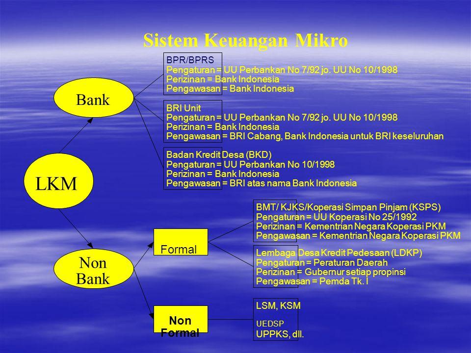 Sistem Keuangan Mikro LKM Bank Non Formal BPR/BPRS