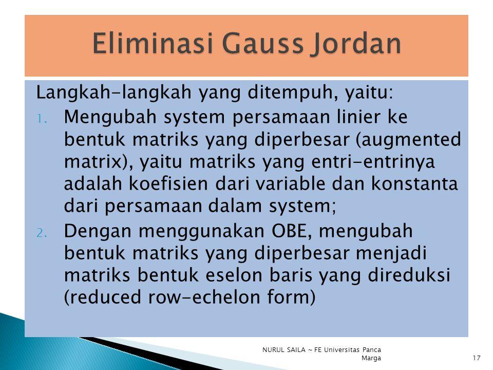 Eliminasi Gauss Jordan