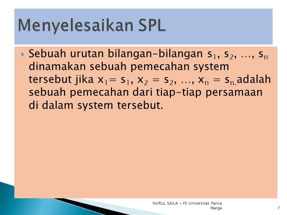 Menyelesaikan SPL
