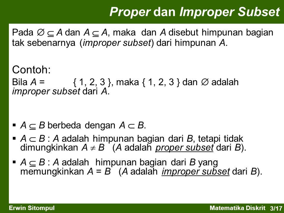 Proper dan Improper Subset