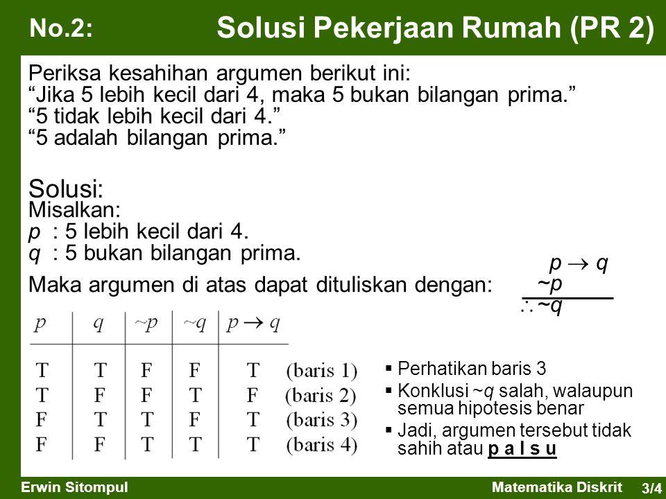 Solusi Pekerjaan Rumah (PR 2)